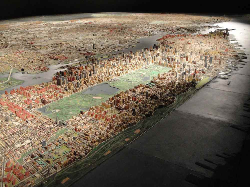 Panorama of New York City at Queens Museum