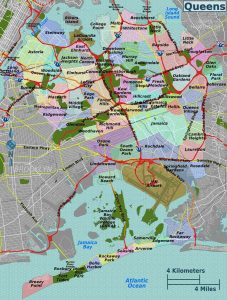 Map of Queens neighborhoods